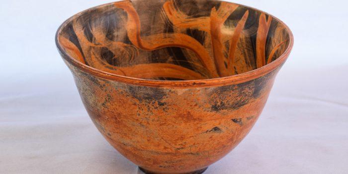 027 A Ciotolone Raku Dolce Marina Rizzelli Ceramica